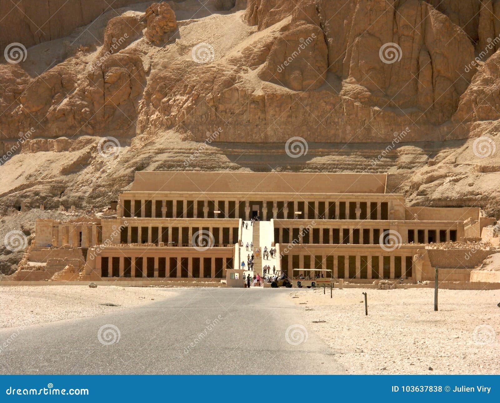 Oude ruïnes in Luxor Egypte