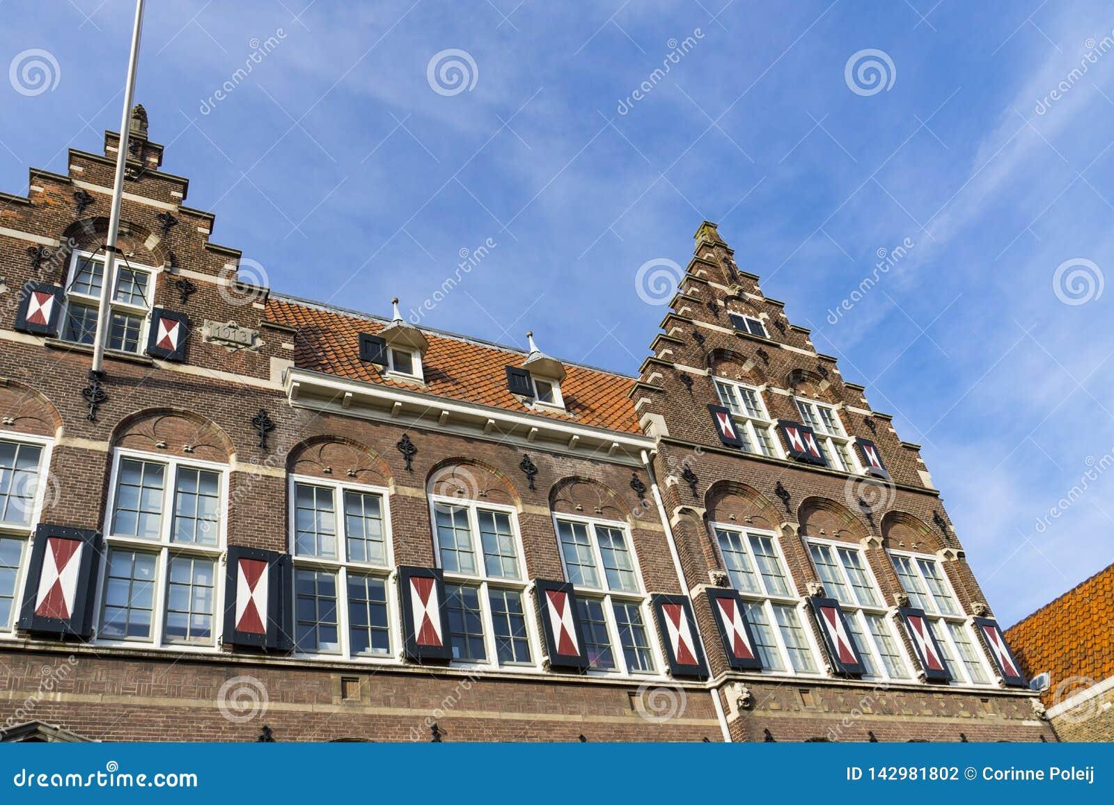 Oude school in Hofstraat Dordrecht, Nederland