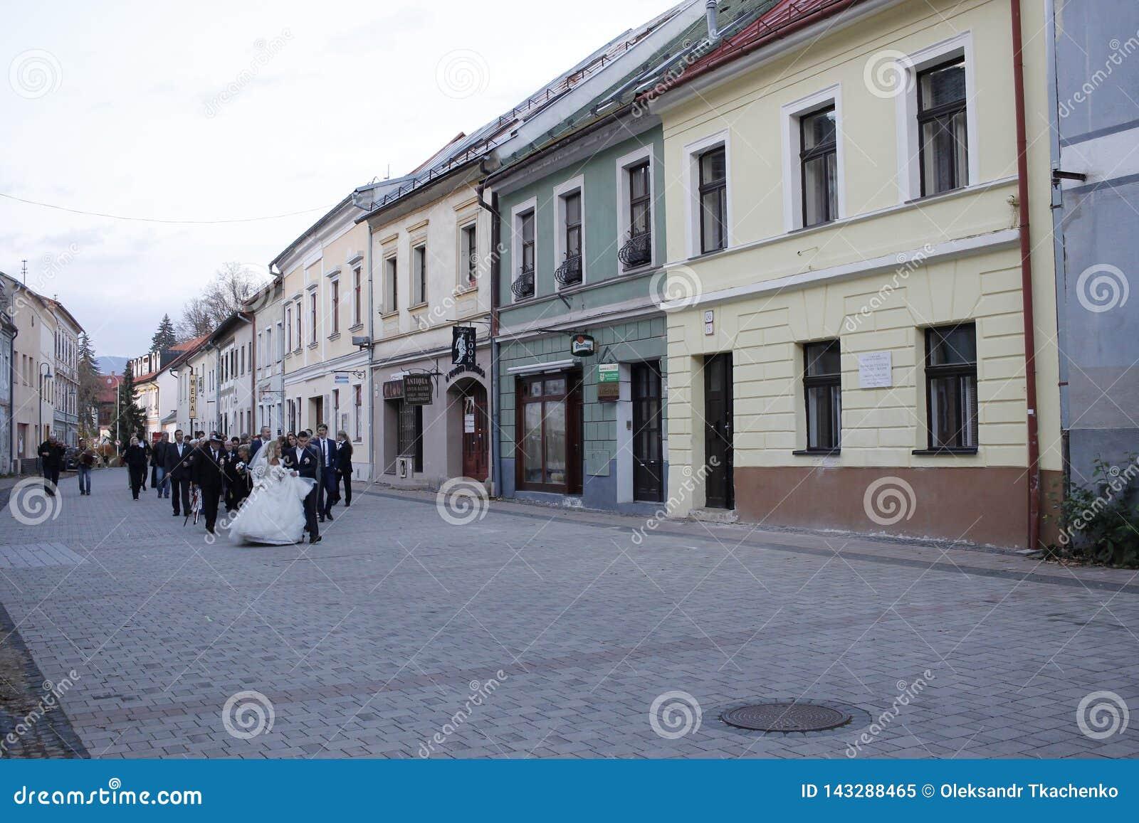 Oude stad van Banska Bystrica, centraal Slowakije