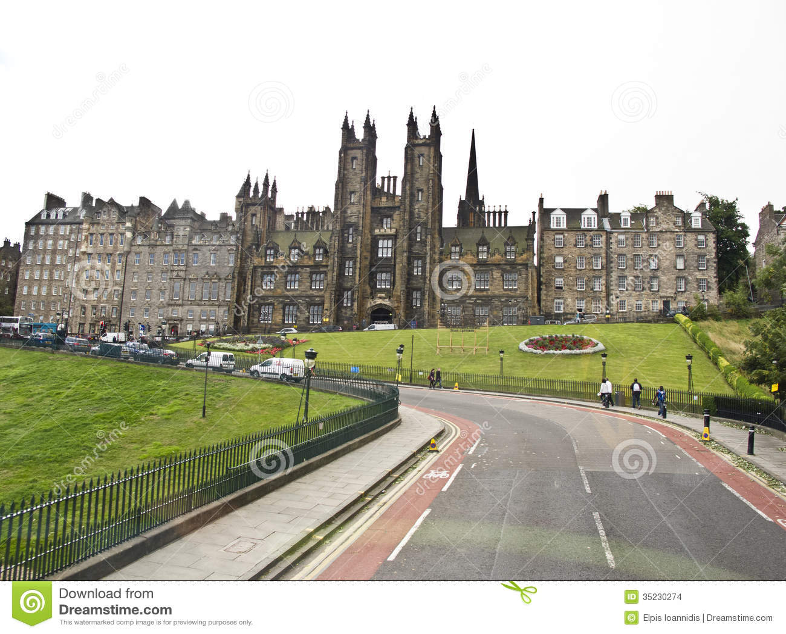 Oude stad van Edinburgh, Schotland,