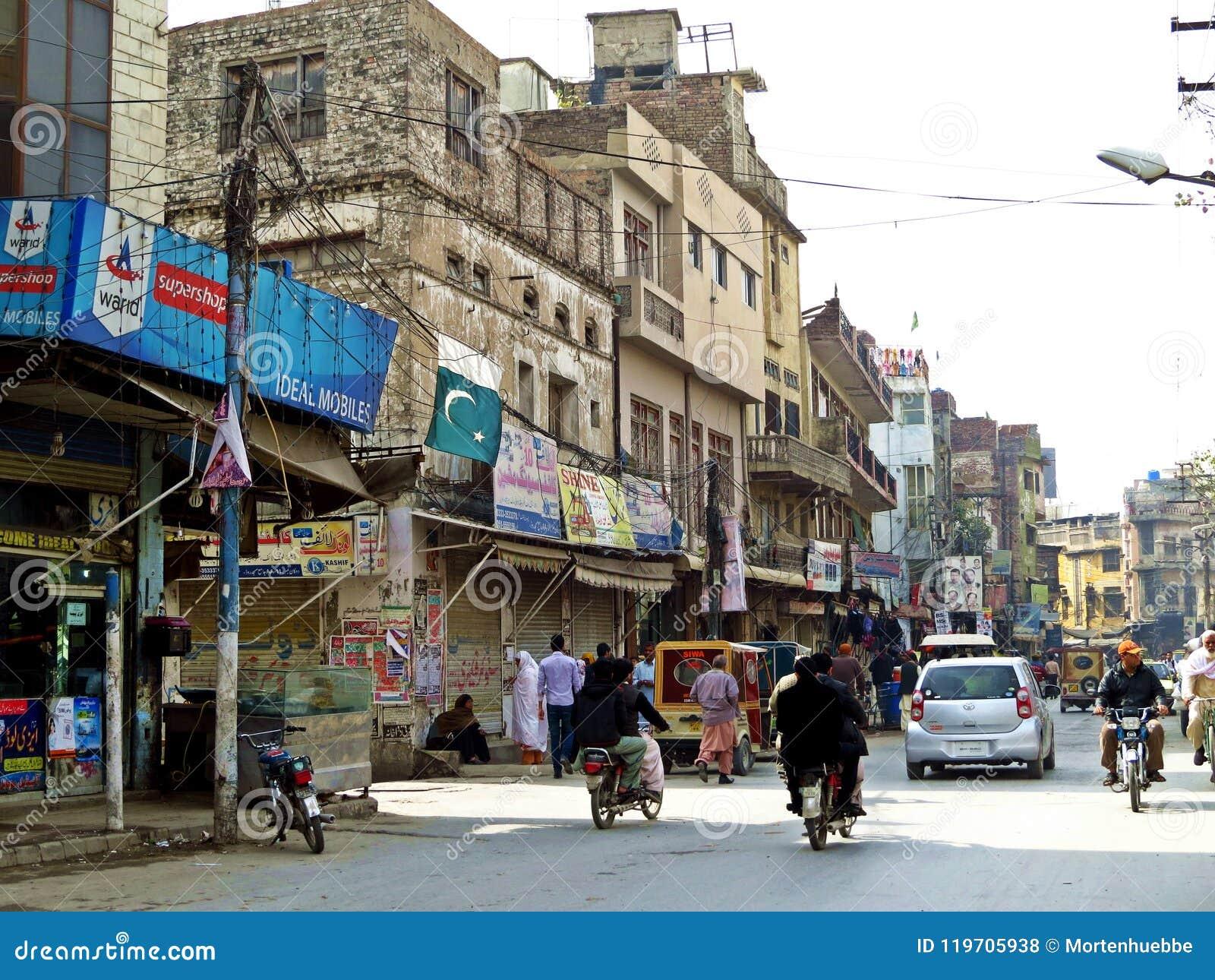 Oude stad van Rawalpindi, Pakistan