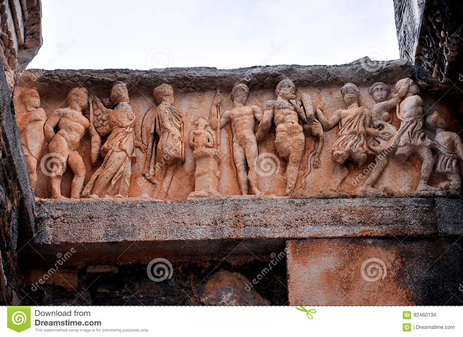 Oude standbeelden in Ephesus
