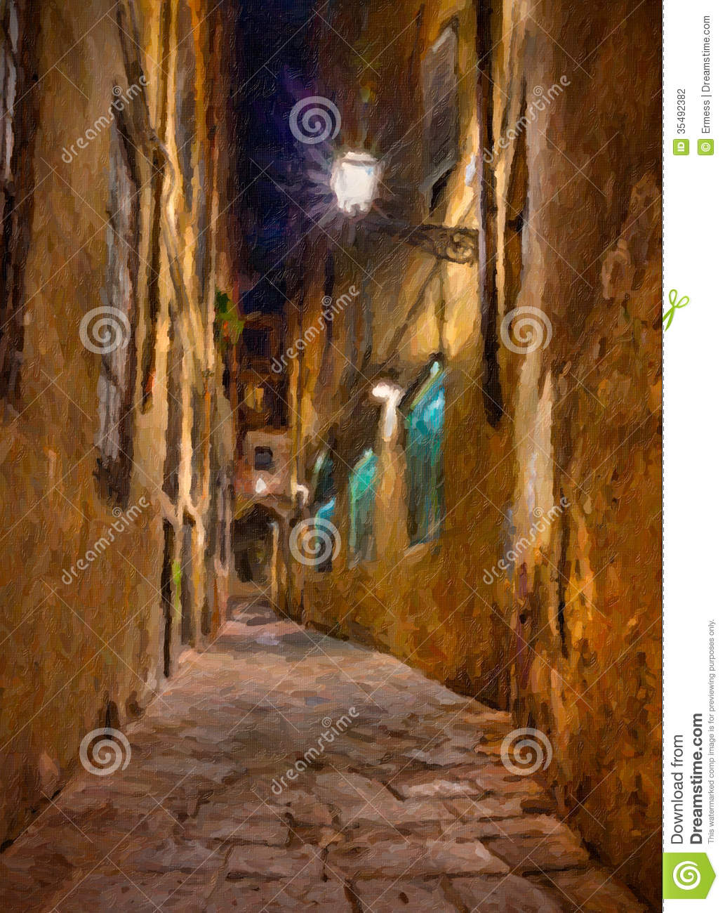 Oude steeg in Florence