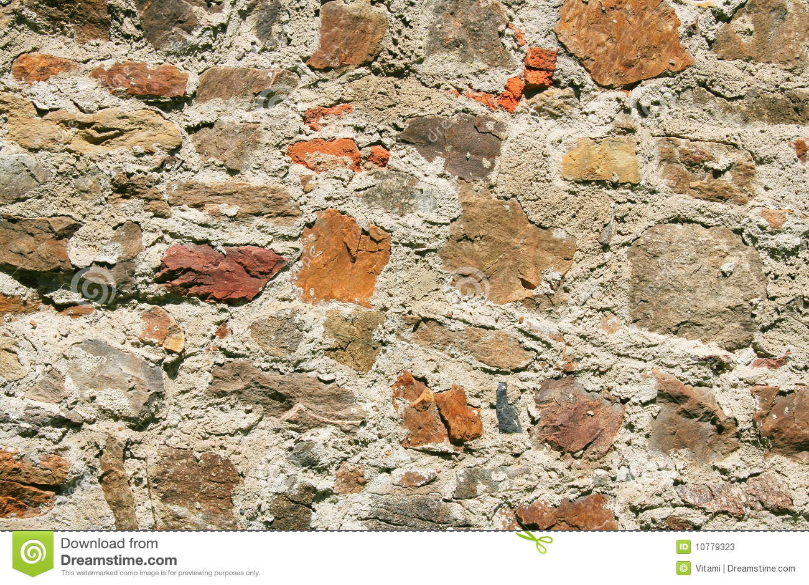 Oude steenachtige muur