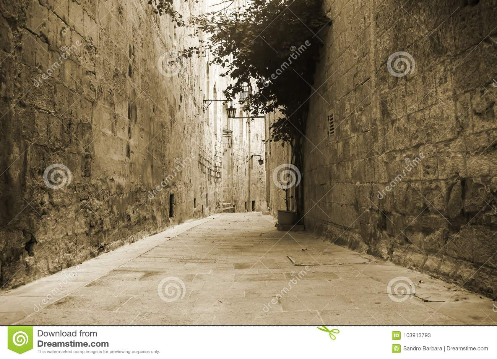 Oude straat in Mdina