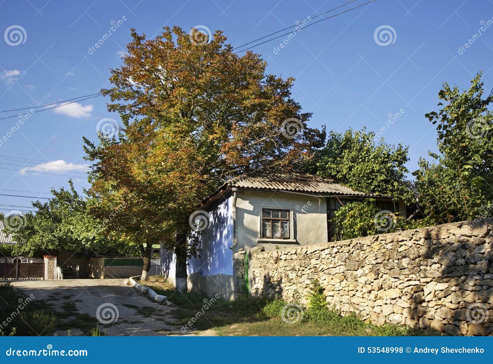Oude straat in Trebujeni moldova