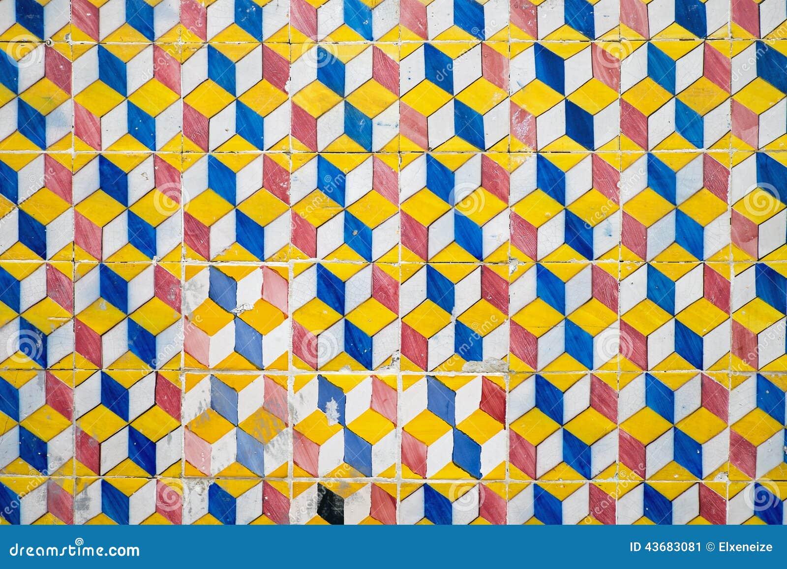Oude tegels in portugal stock afbeelding afbeelding bestaande uit huis 43683081 - Oude patroon tegel ...
