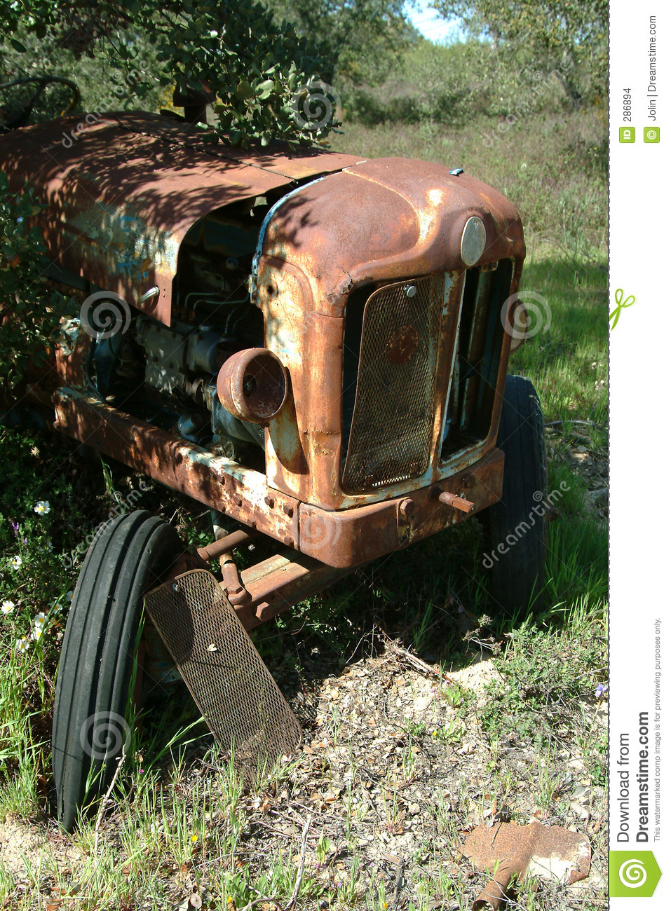 Oude tractor