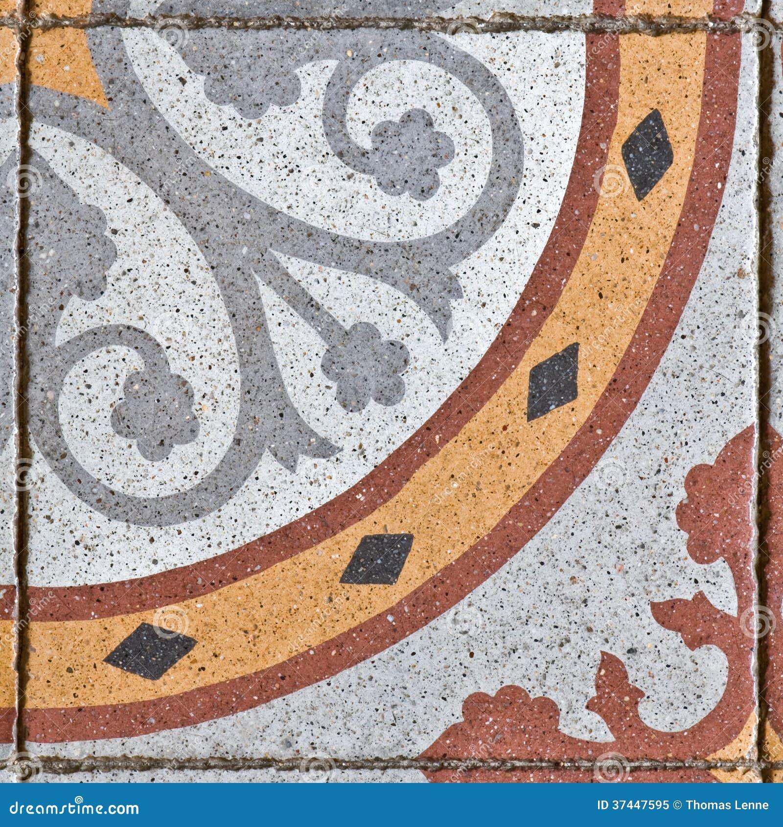 Oude vierkante het bedekken tegel stock afbeelding afbeelding 37447595 - Oude patroon tegel ...