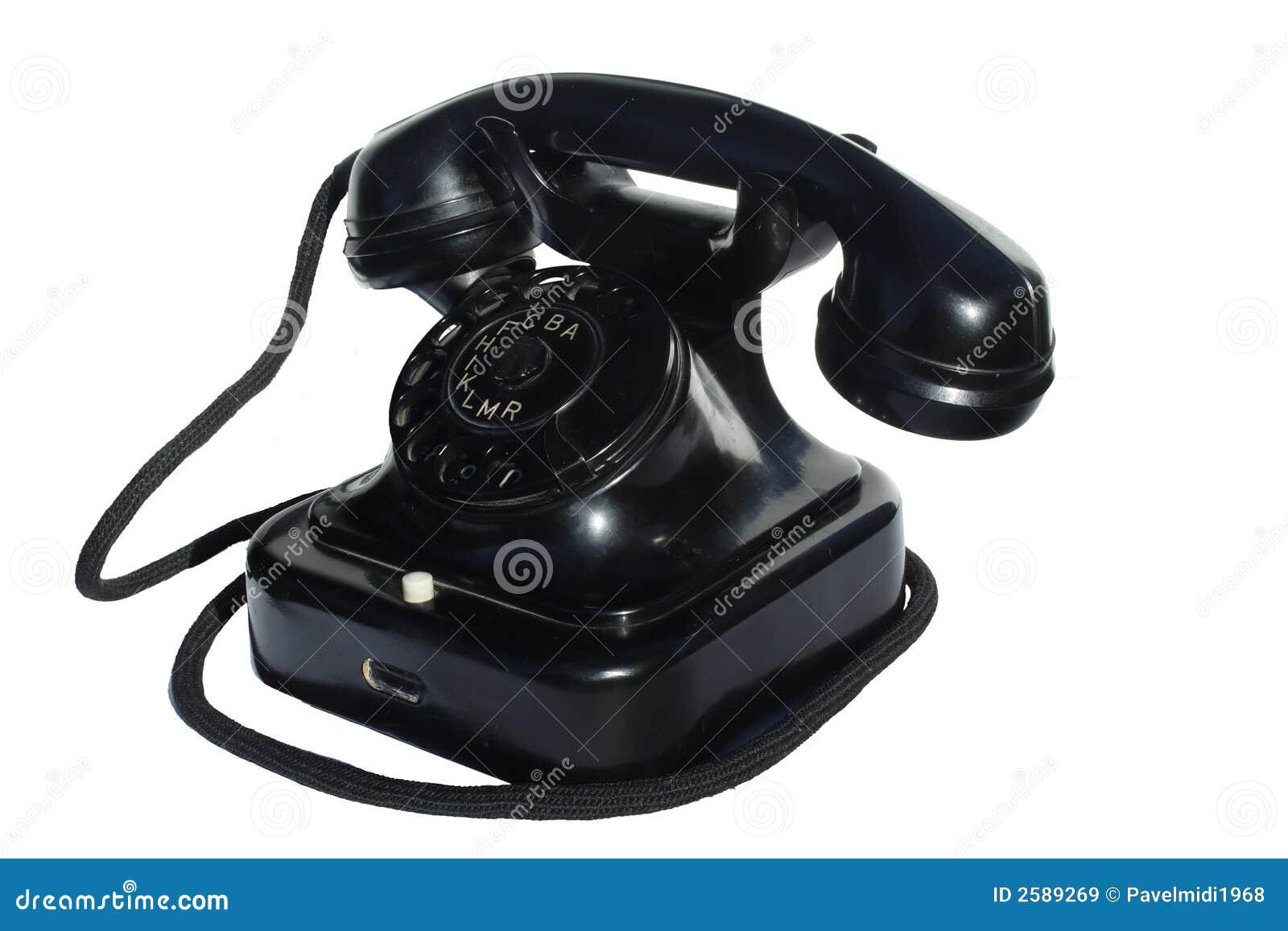 Oude zwarte telefoon