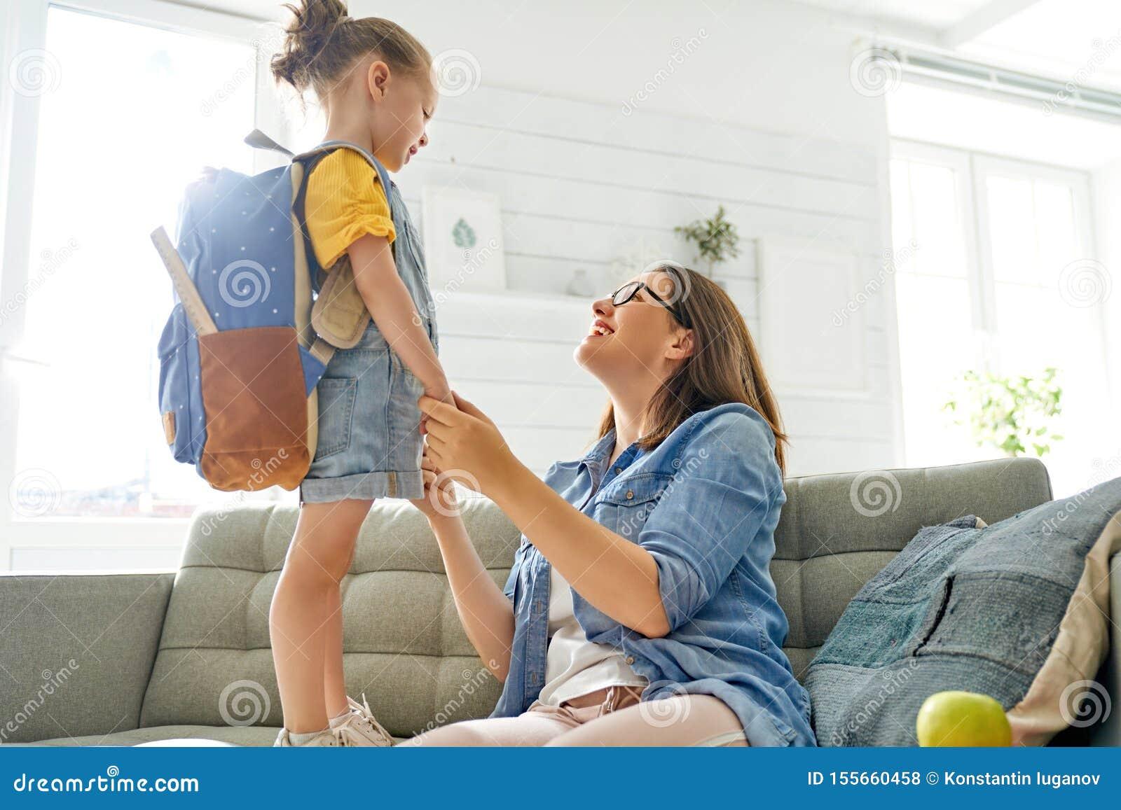 Ouder en leerling van kleuterschool