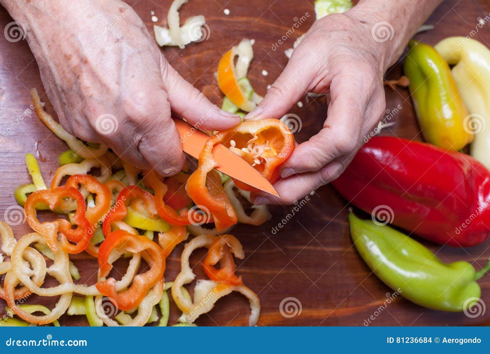 Oudere vrouwen scherpe peper