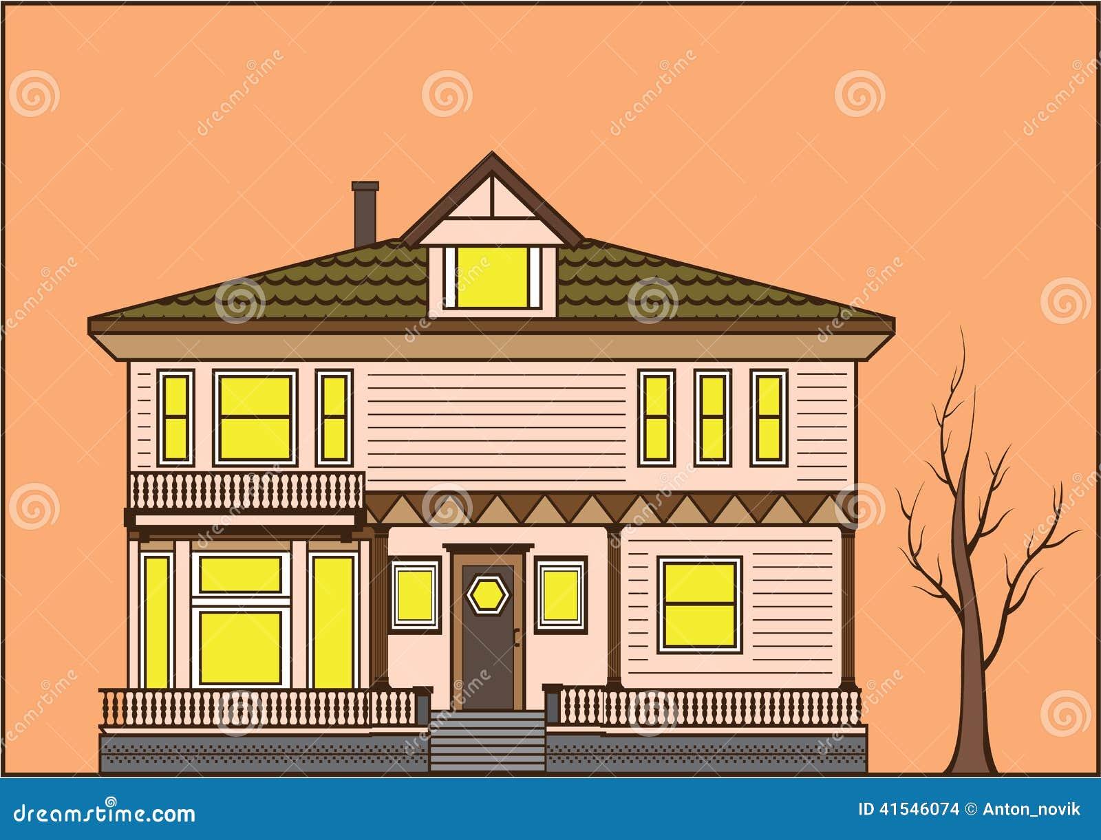 Ouderwets huis vector illustratie beeld 41546074 - Huis van de wereldbank ...