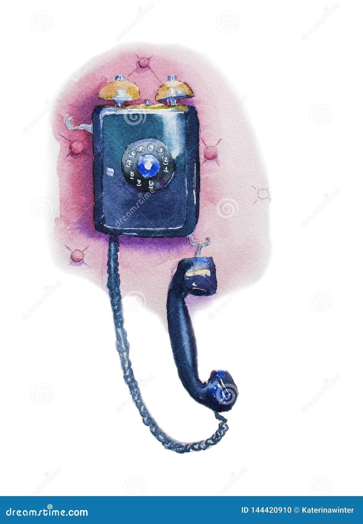 Ouderwetse muurtelefoon