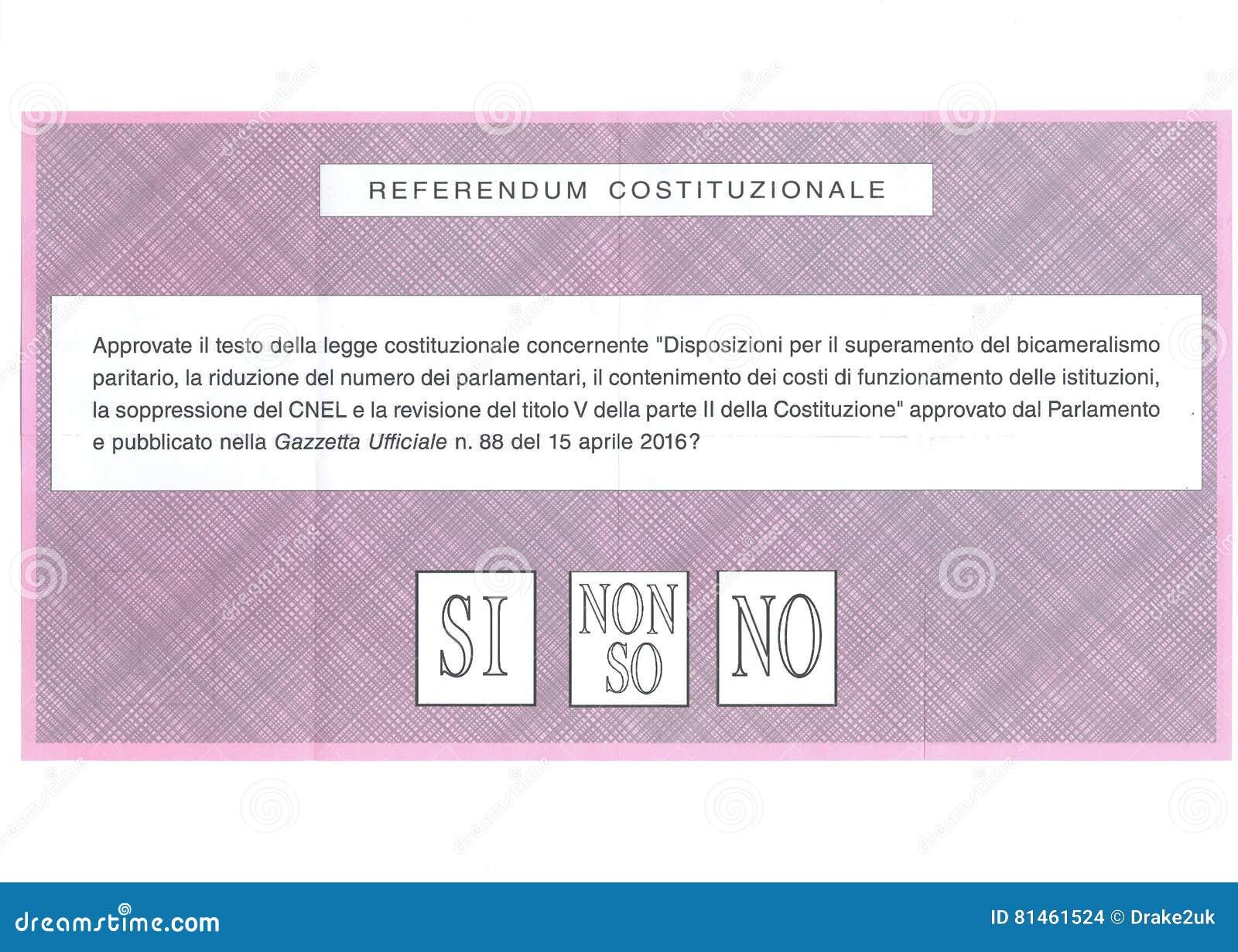 OUI AUCUN ` T d I DON NE CONNAISSENT le bulletin de vote italien
