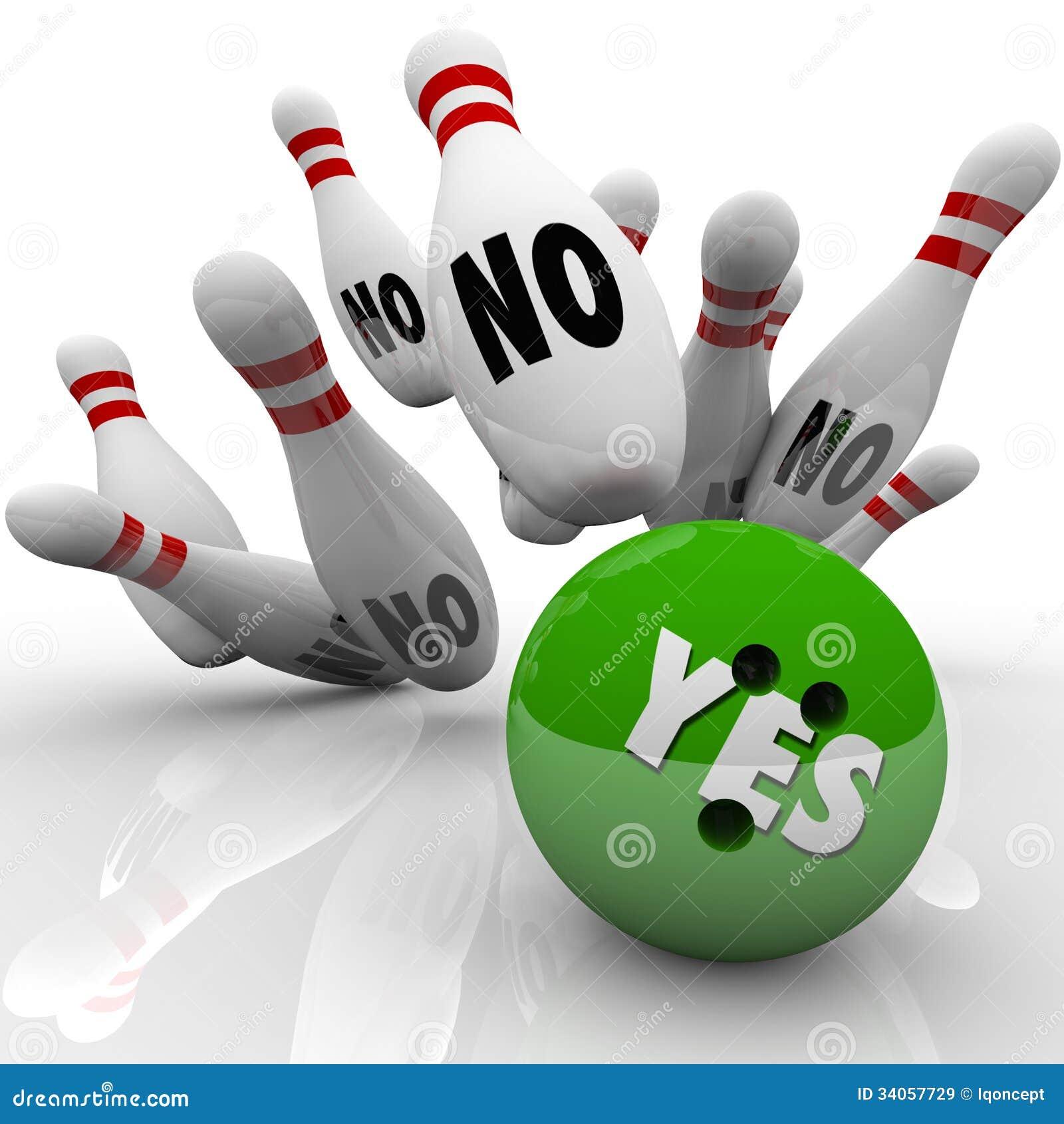 Oui boule de bowling aucune goupilles surmontant la réponse d objection