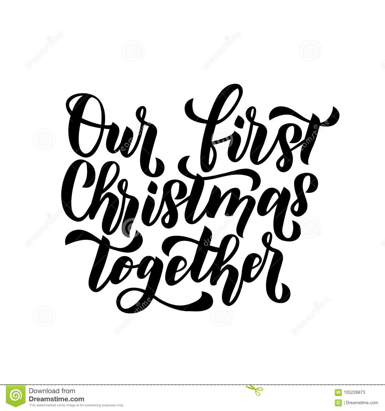 our first christmas together merry christmas and happy new year