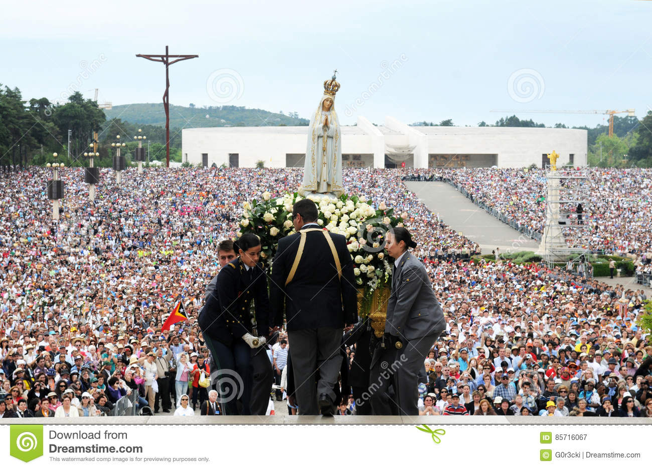 Our Lady of Fatima Pilgrimage, Virgin Mary Mother of Jesus, Christian Faith, Devotee Crowd