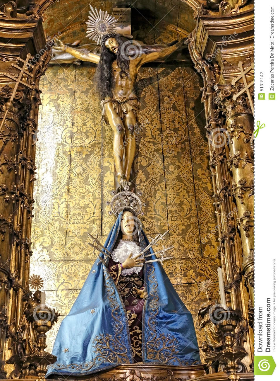 our lady of sorrows editorial photography  image of gilt