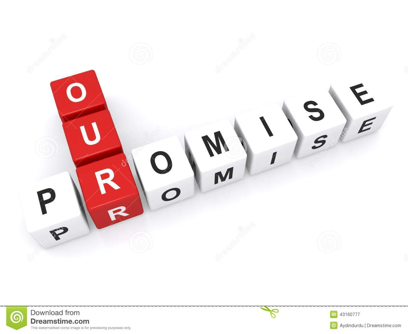 Our Promise Sign Stock Photo Image 43160777