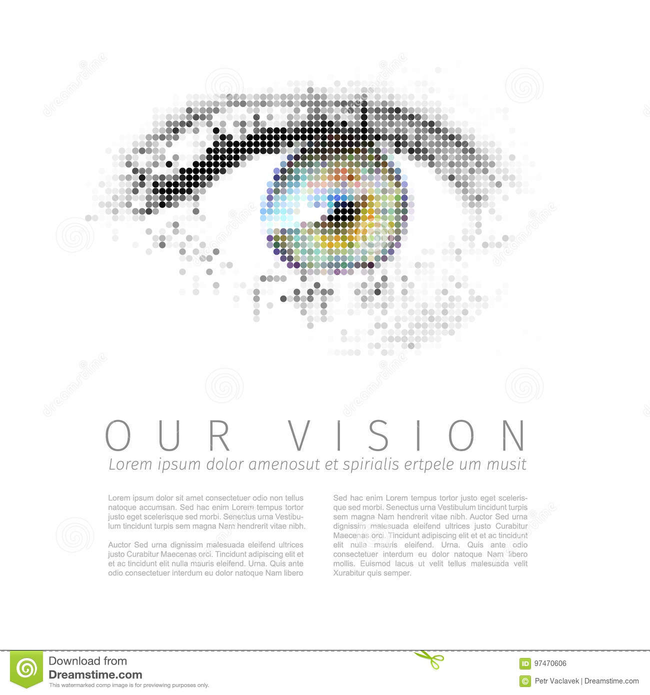 our vision template stock vector illustration of business 97470606