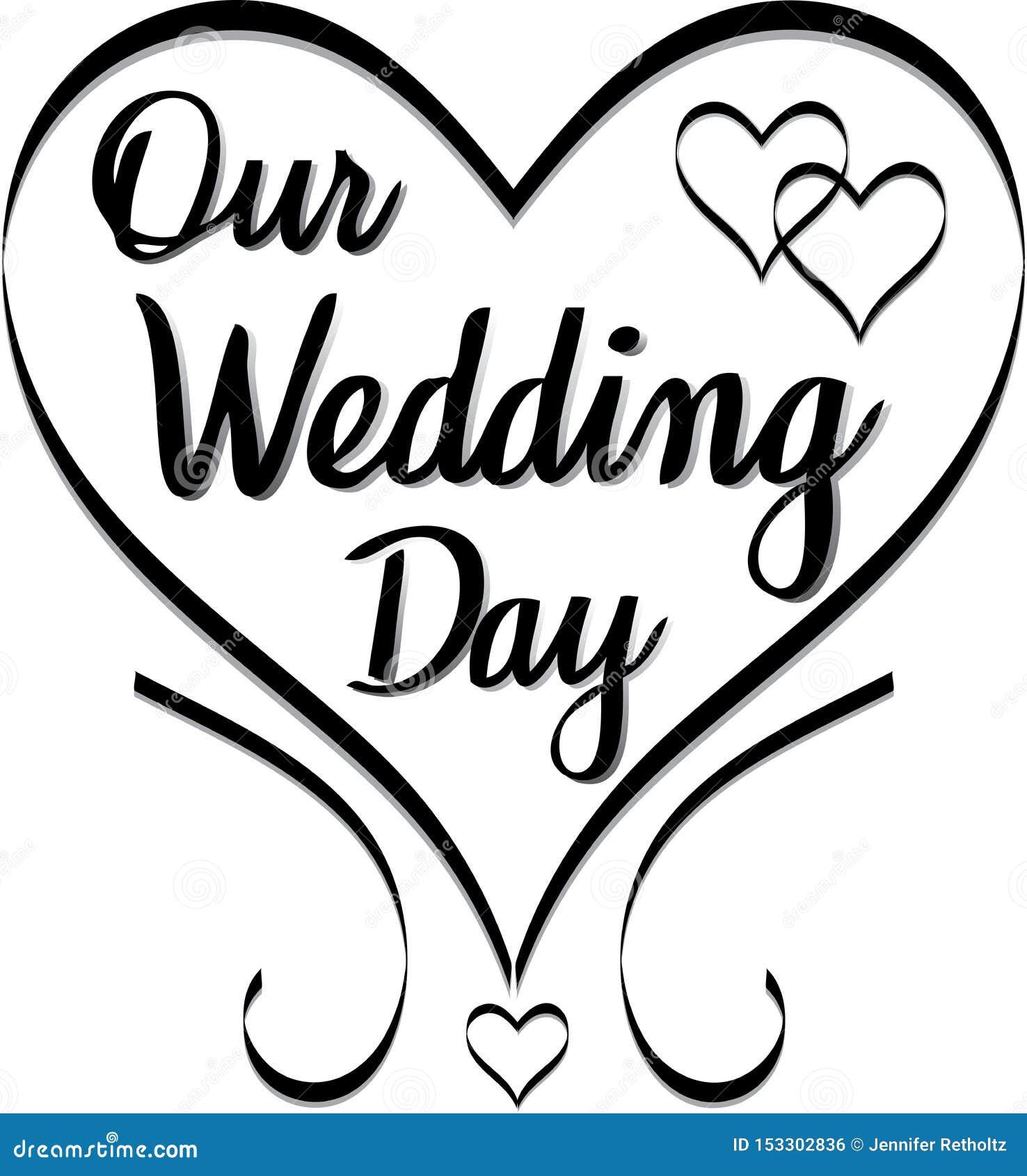 Our Wedding Day Wedding Clip Art Stock Vector