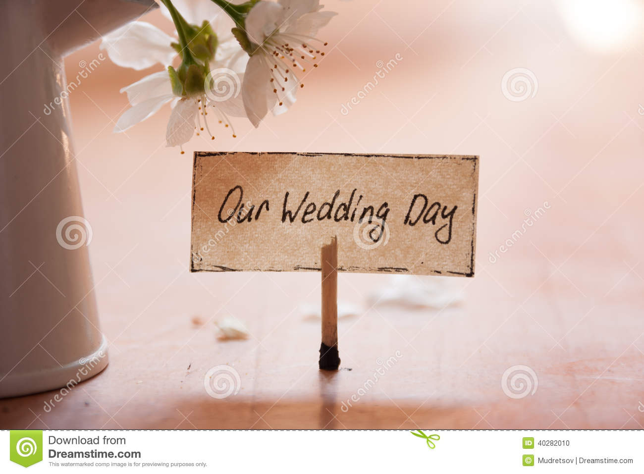 Our wedding day stock photo image of embellishment anniversary our wedding day junglespirit Choice Image