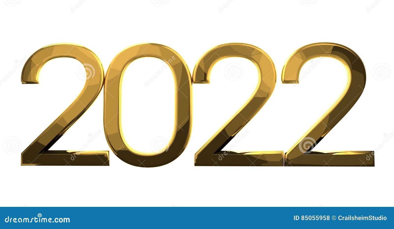 Ouro 2022 ilustração stock. Ilustração de moderno, sylvester ...
