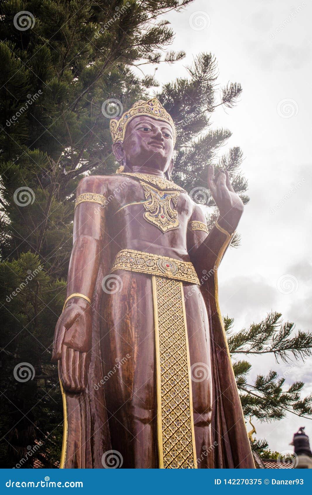 Ouro de Thailande Chiang Mai buddha ou