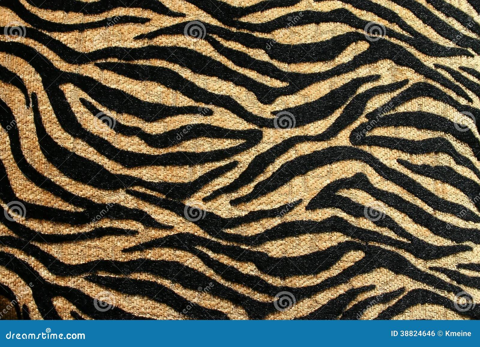 Ouro e preto Tiger Design com Rich Texture