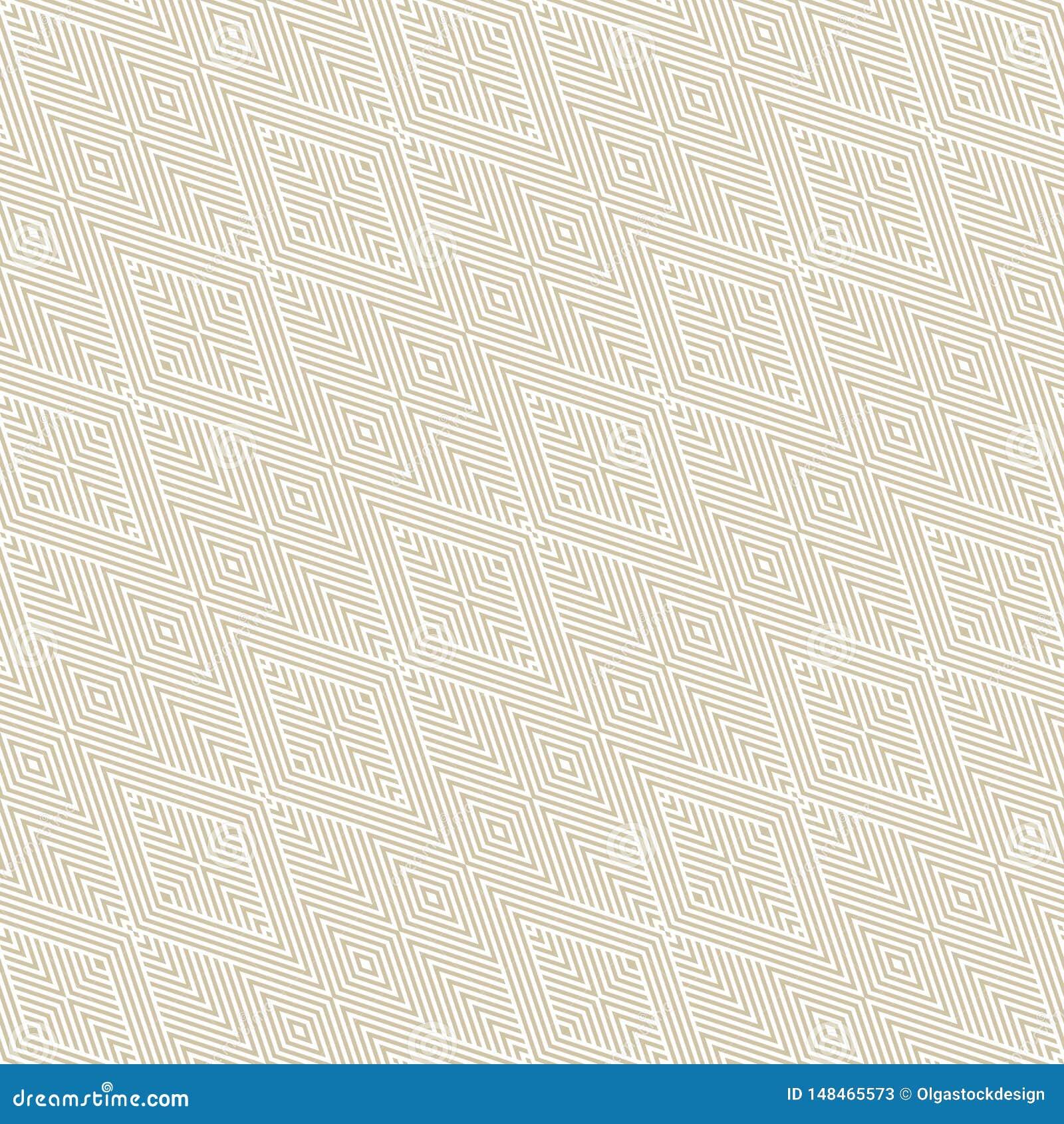 Ouro e teste padrão sem emenda linear geométrico do vetor branco com listras diagonais