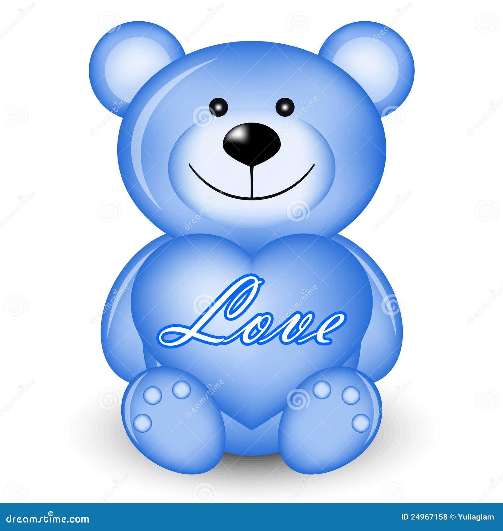 ours bleu avec le coeur