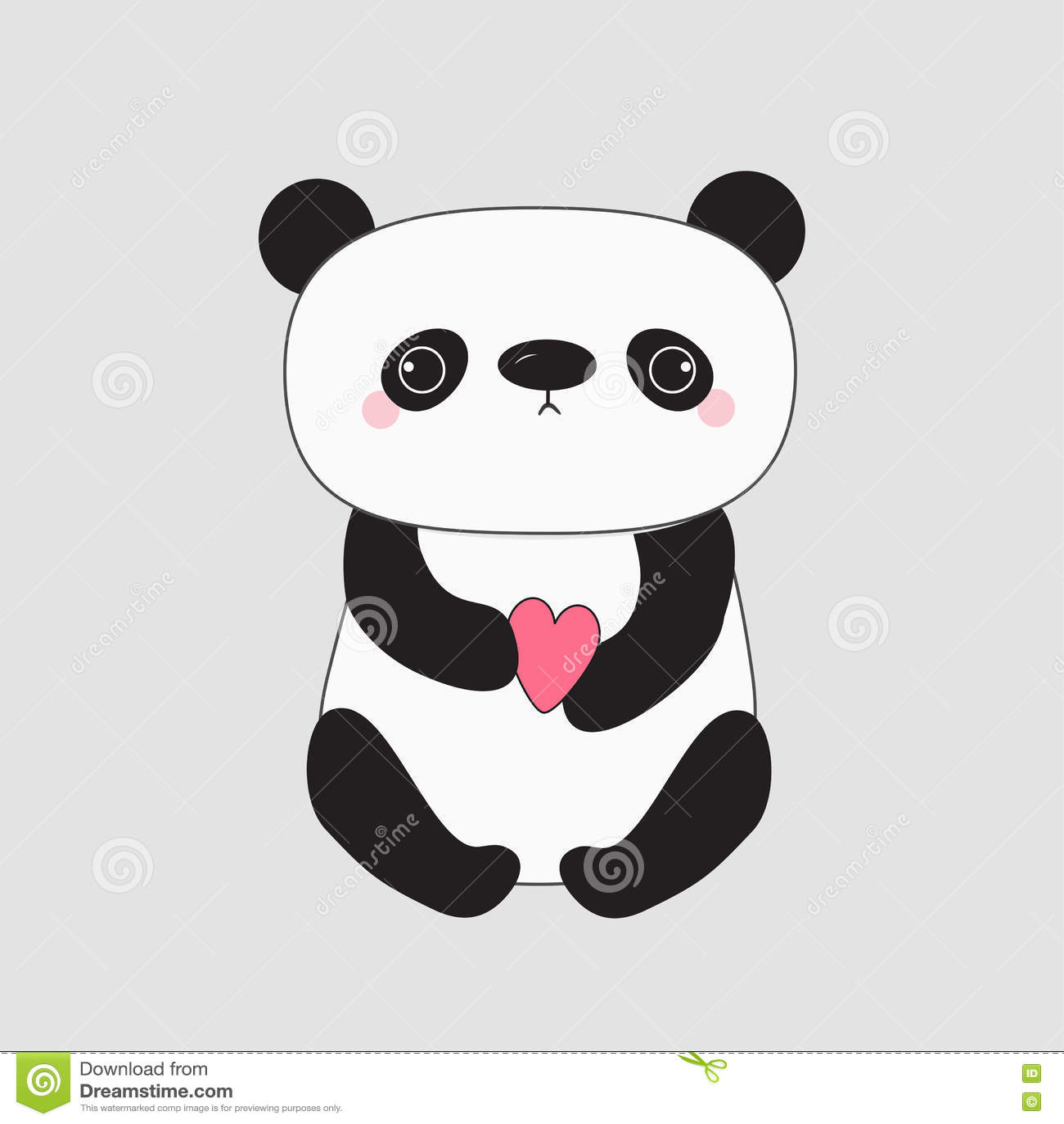 Ours De Bébé De Panda De Kawaii Personnage De Dessin Animé