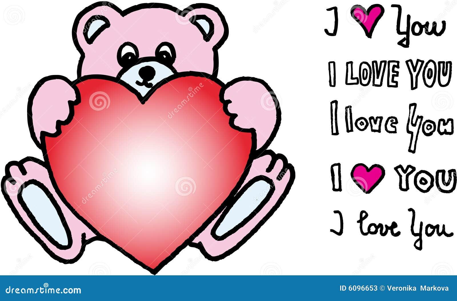 ours de nounours avec le coeur