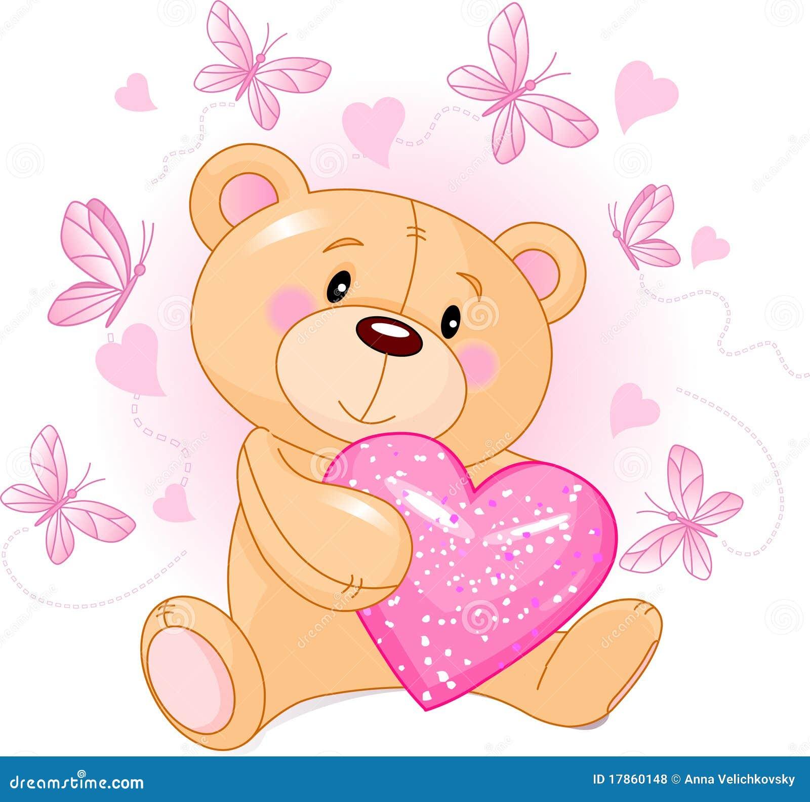 Ours de nounours avec le coeur d 39 amour illustration de vecteur illustration du jeune nounours - Coeur nounours ...