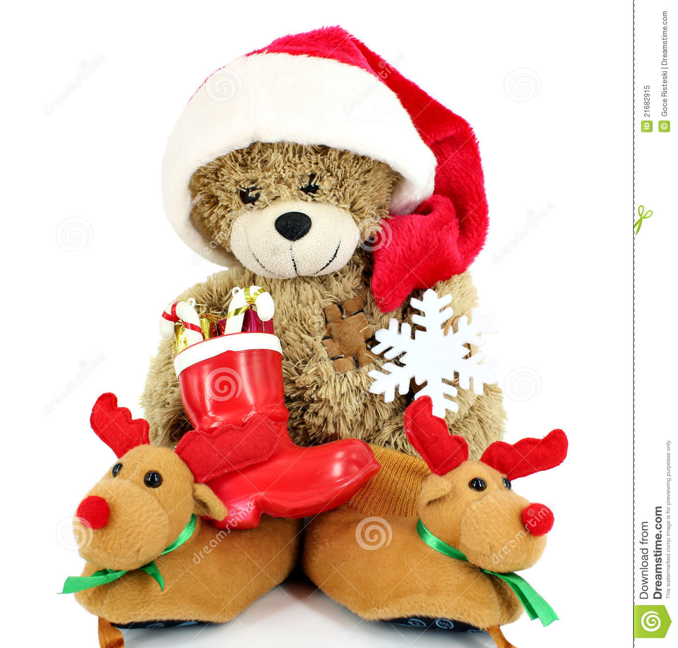 Ours de nounours le p re no l photo libre de droits image 21682915 - Nounours noel ...
