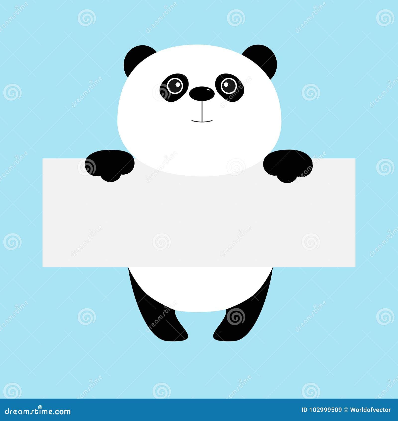 Ours Panda Drôle Accrochant Sur Le Calibre De Carton Corps D