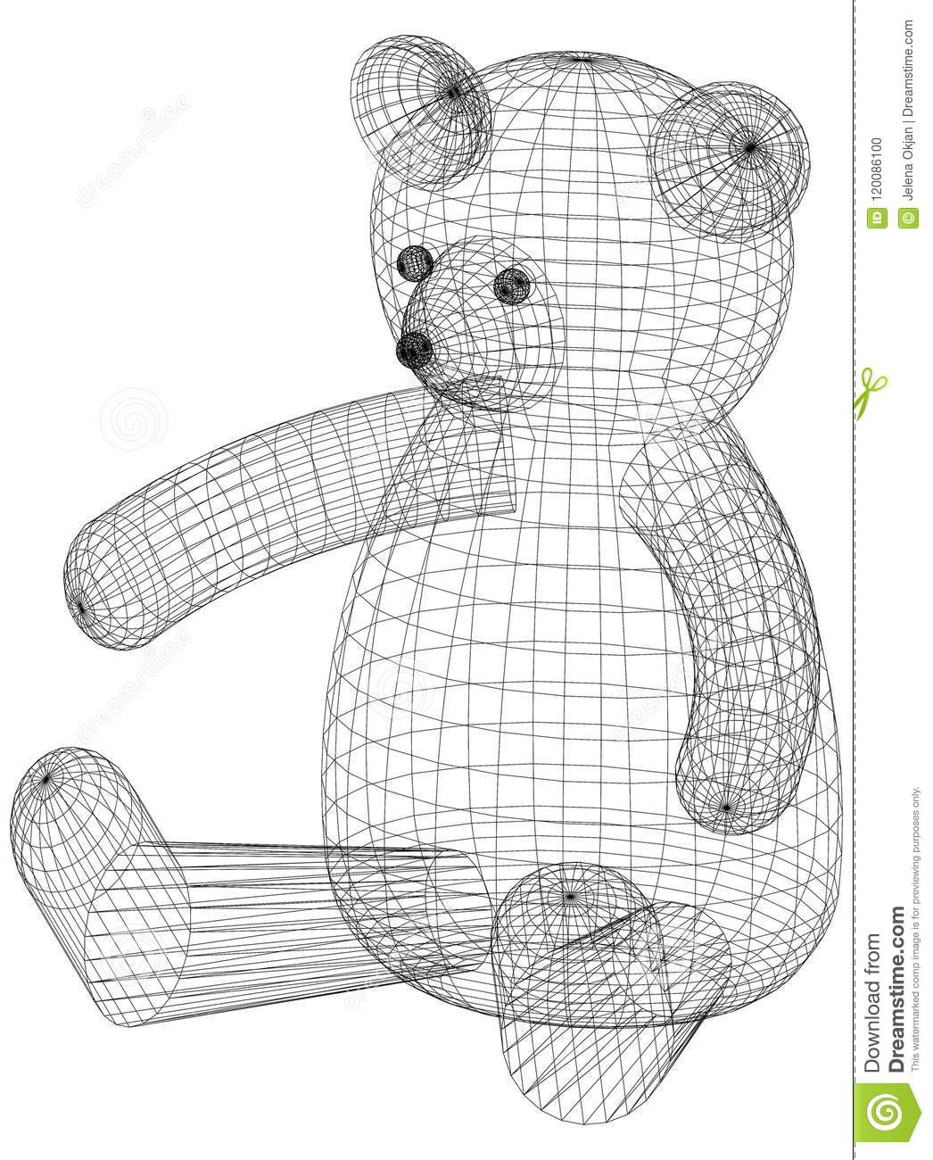 Ours Toy Architect Blueprint - d isolement