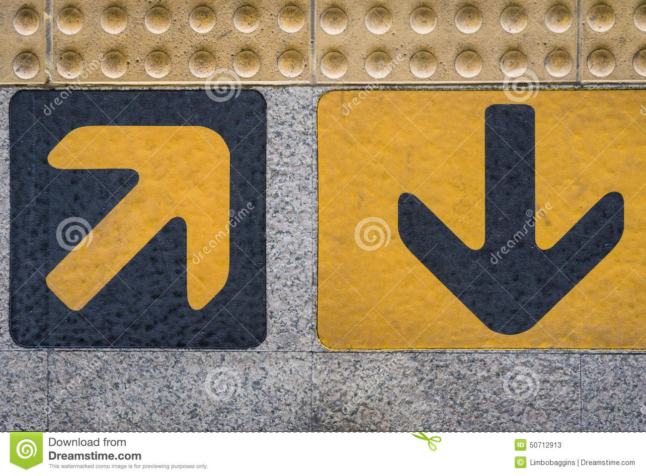 In And Out Arrows Sign Stock Image Image Of Train Yellow 50712913