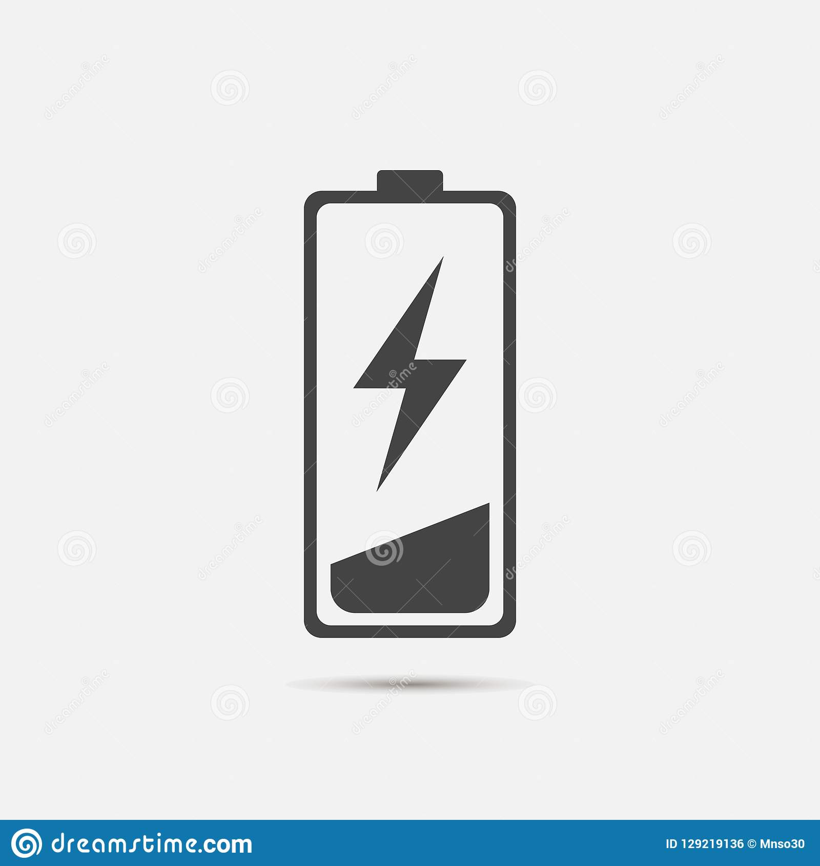 View Low Battery Vector