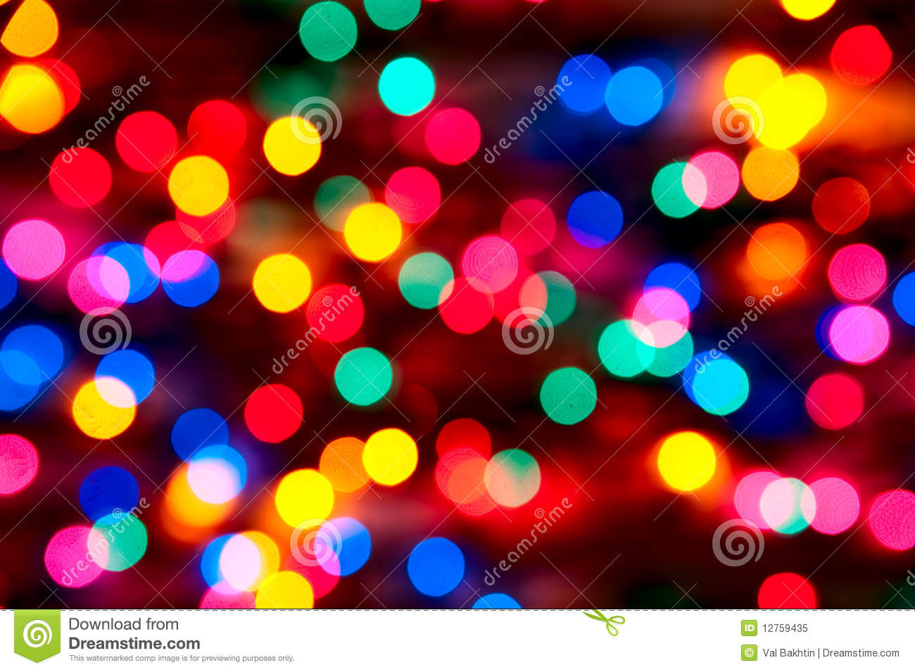 Out Of Focus Christmas Lights Stock Image Image 12759435