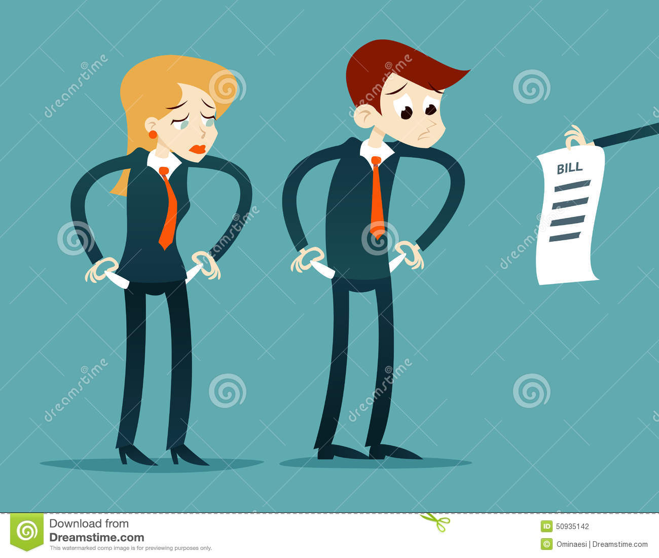 Cartoon Character Design Vector : Out of money businessman cartoon character looking stock