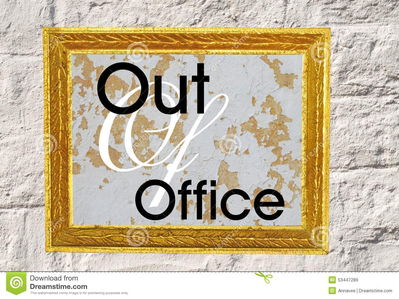 Out Of Office Stock Illustration - Image: 53447289
