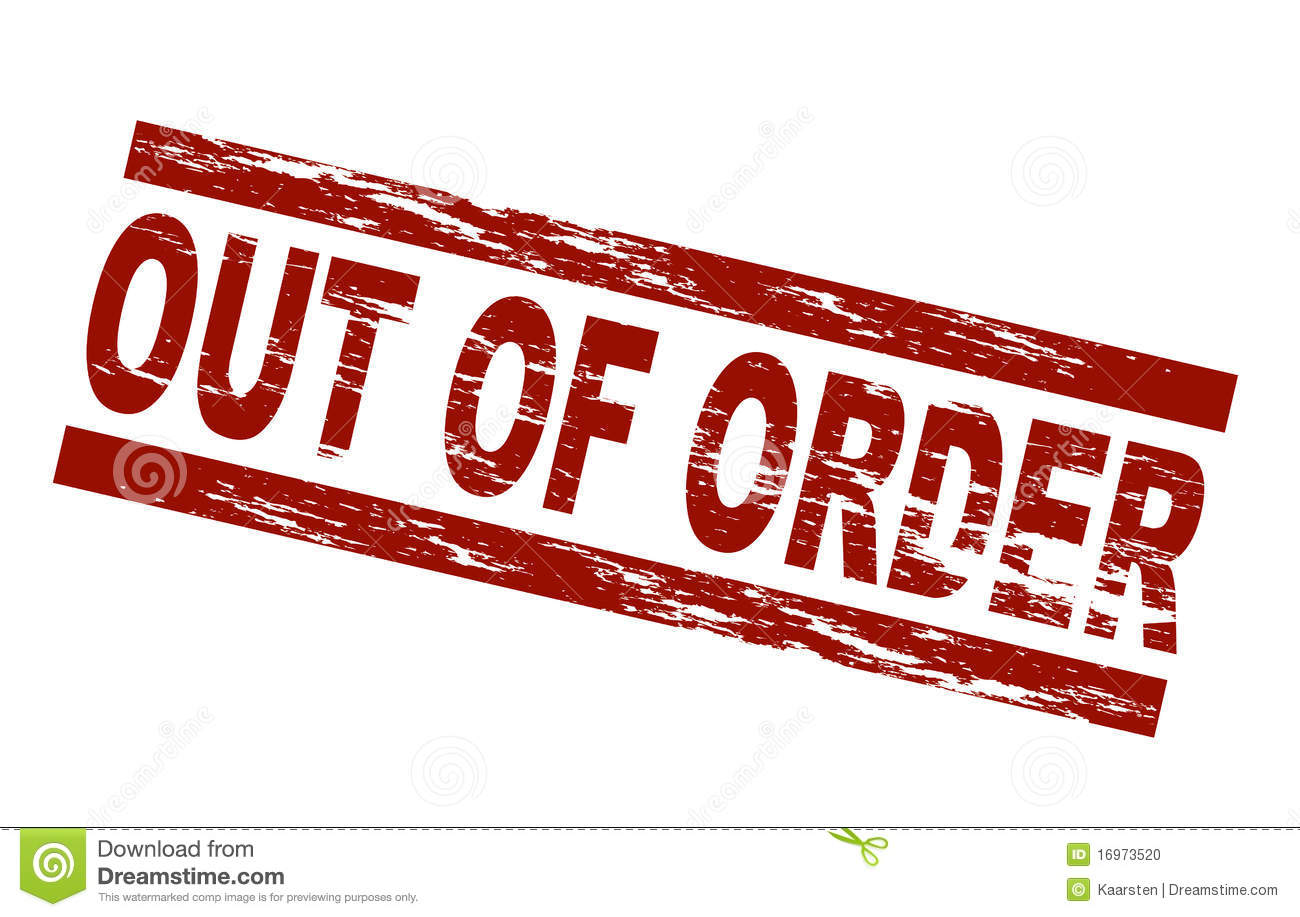 Out Of Order Stock Vector Illustration Of Pictogram - Out of order sign pdf