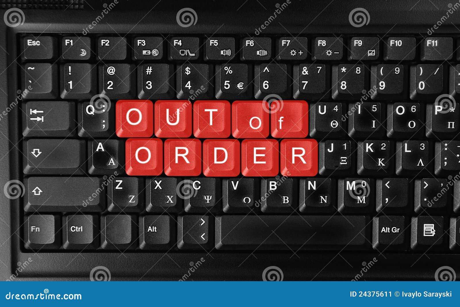 Out Of Order Stock Illustration Image Online Notebook