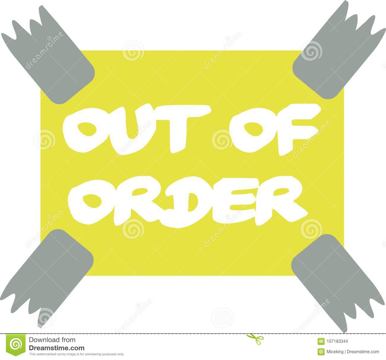 Out Order Stock Illustrations 2 400 Out Order Stock Illustrations