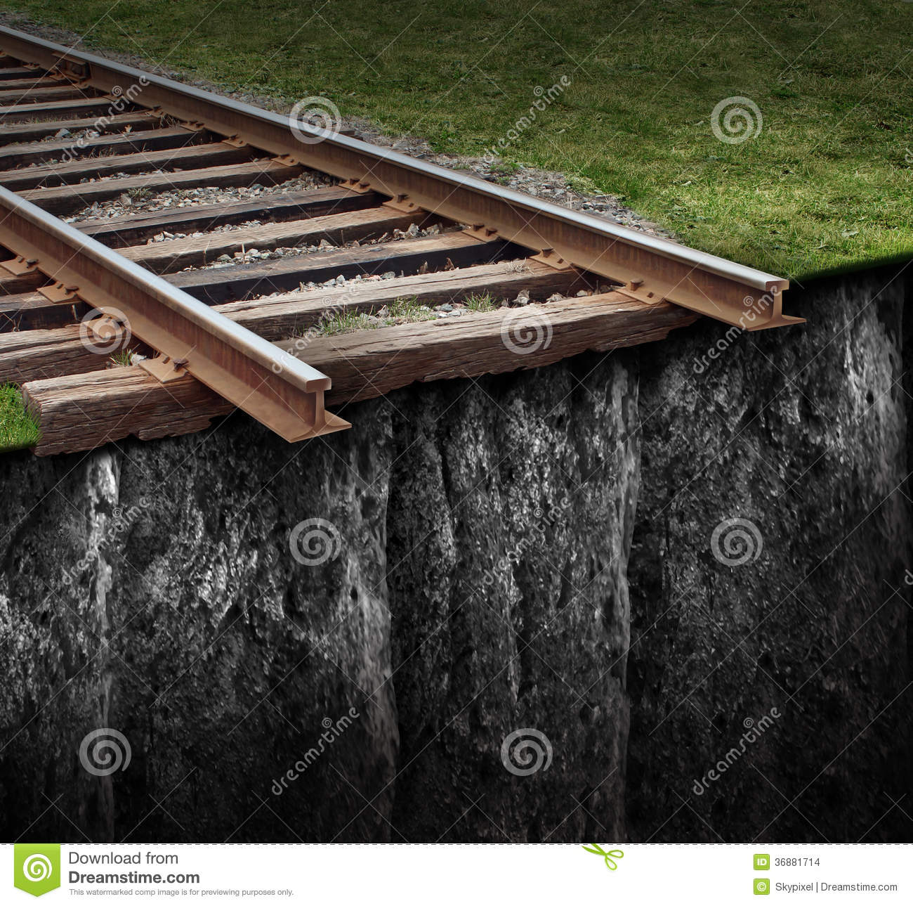 Out Of Track stock illustration. Illustration of rail - 36881714
