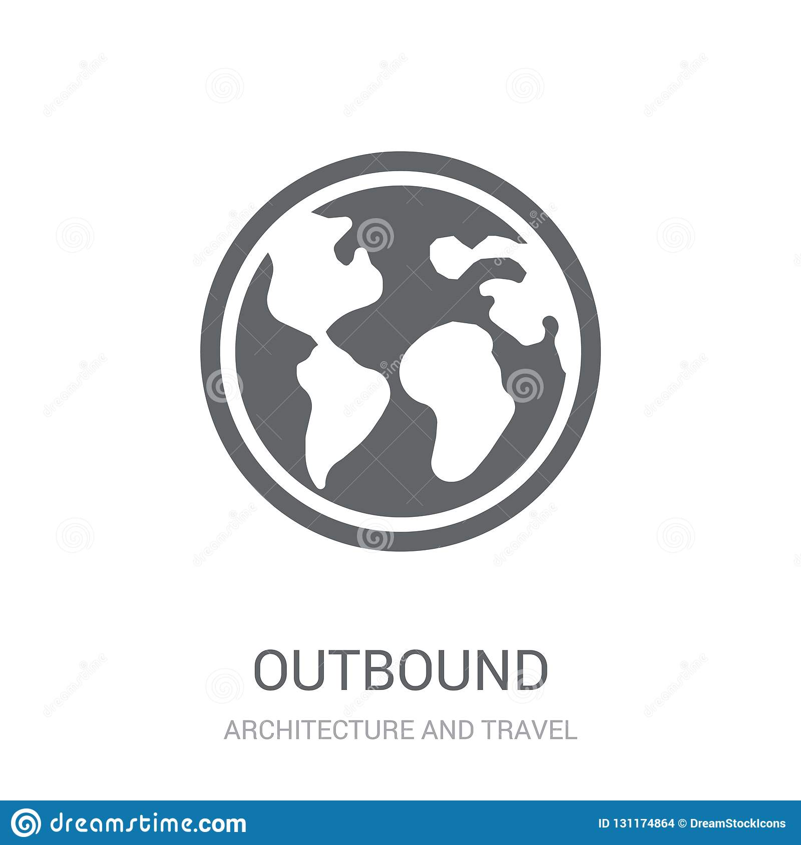 Outbound icon. Trendy Outbound logo concept on white background