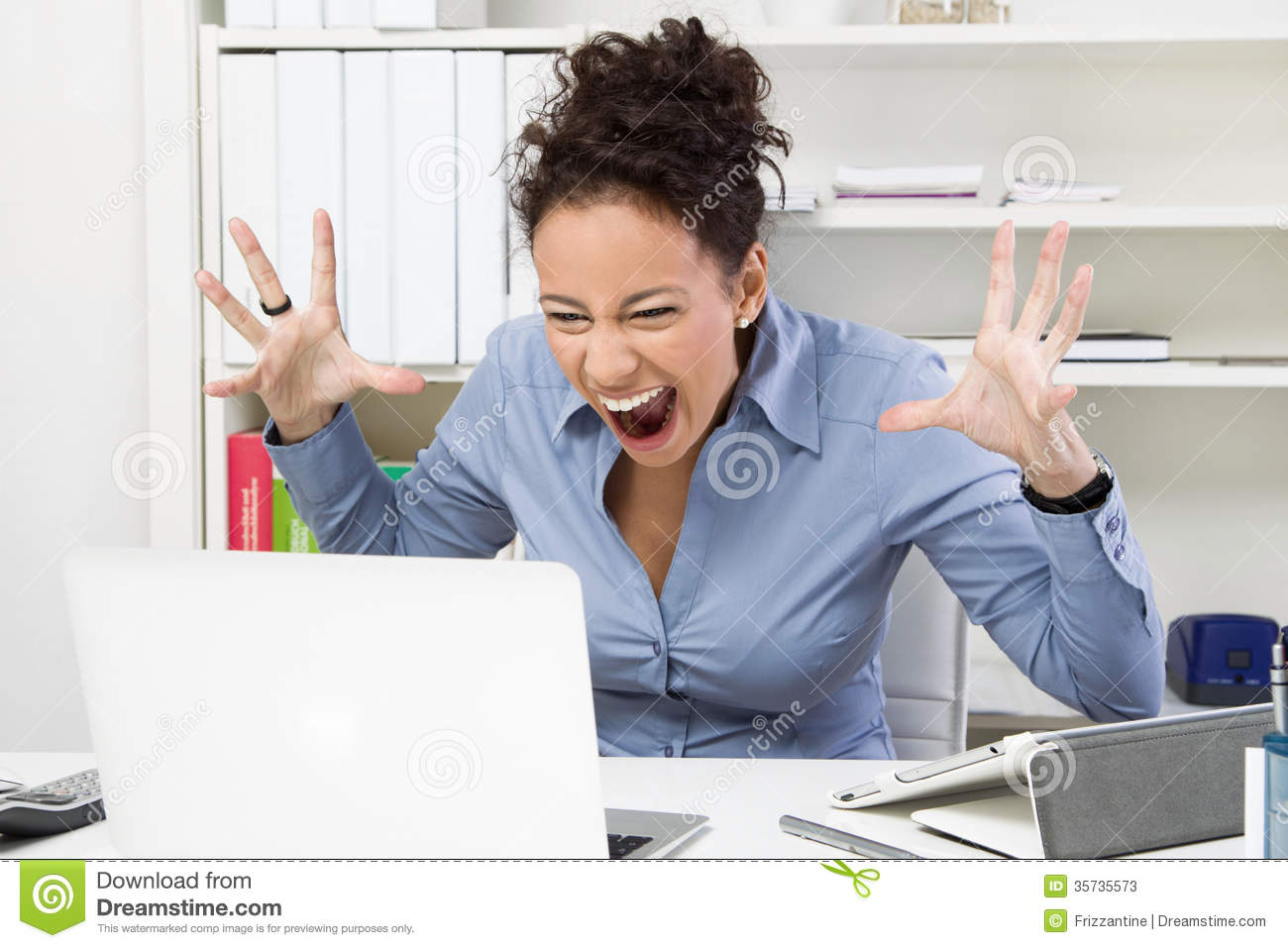 Outburst In Office Stock Photos - Image: 35735573