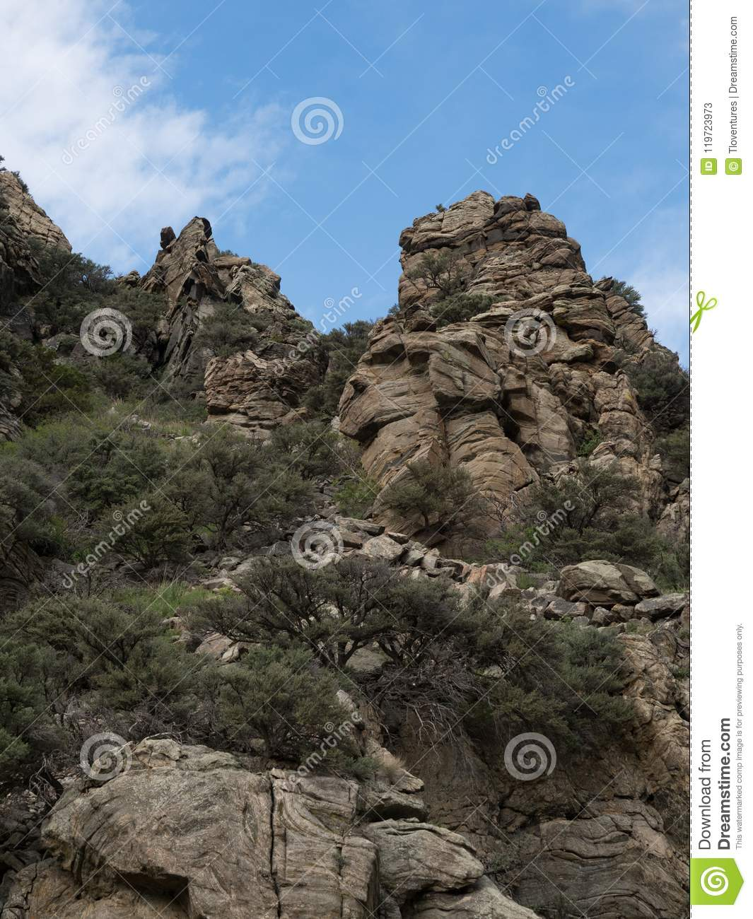 Outcropping Of Ancient Metamorphic Rock In Montana From